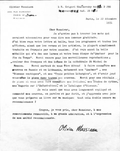 original messiaen letter